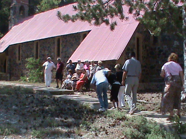 Visiting St George's Church in Troodos