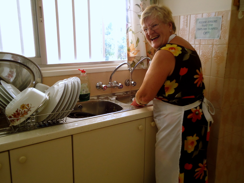 washing up at the luncheon club