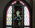 stained glass window in St Helena's church, Larnaka