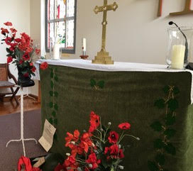 Communion Table for Remembrance Day